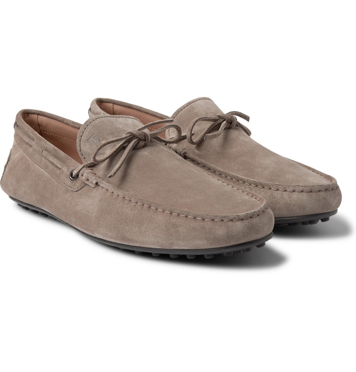 Photo: TOD'S - City Suede Driving Shoes - Gray