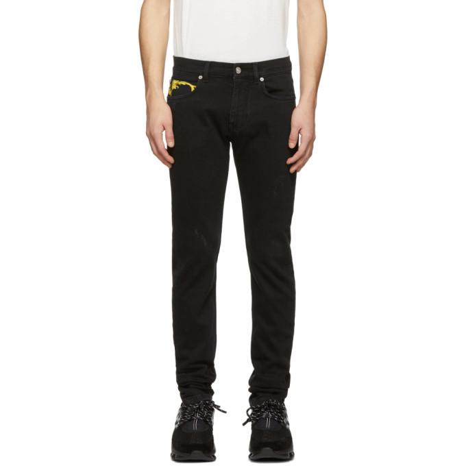 Photo: Versace Black Brocade Slim Jeans