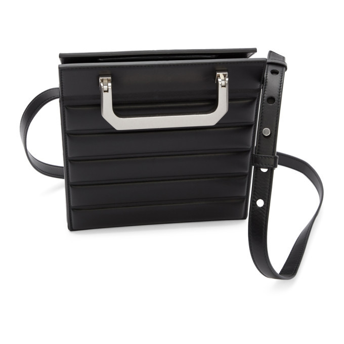 Bottega Veneta Black Padded Mini Trunk Bag
