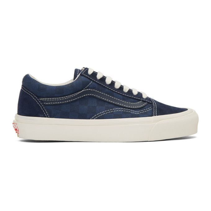 Photo: Vans Navy Checkerboard OG Old Skool LX Sneakers