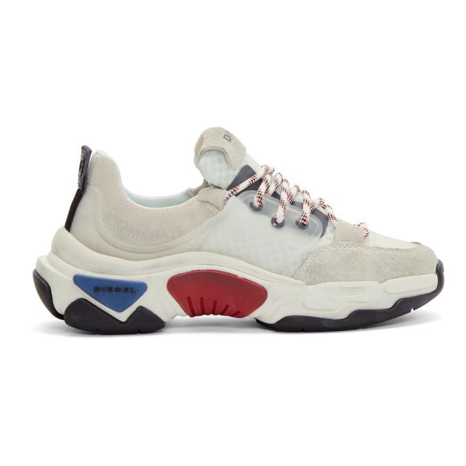 Photo: Diesel White S-Kipper Low Sneakers