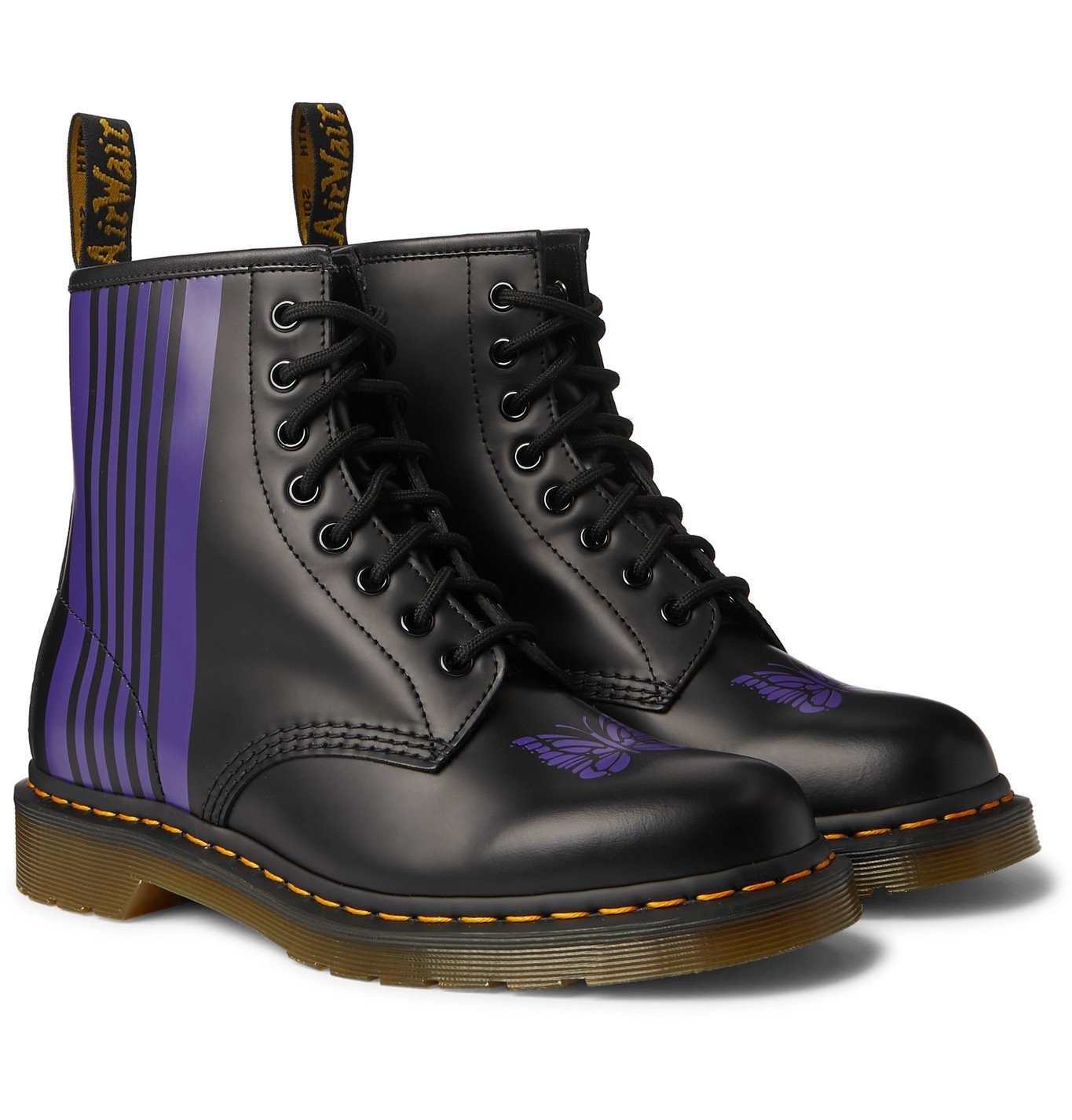 Photo: Dr. Martens - Needles 1460 Printed Leather Boots - Black