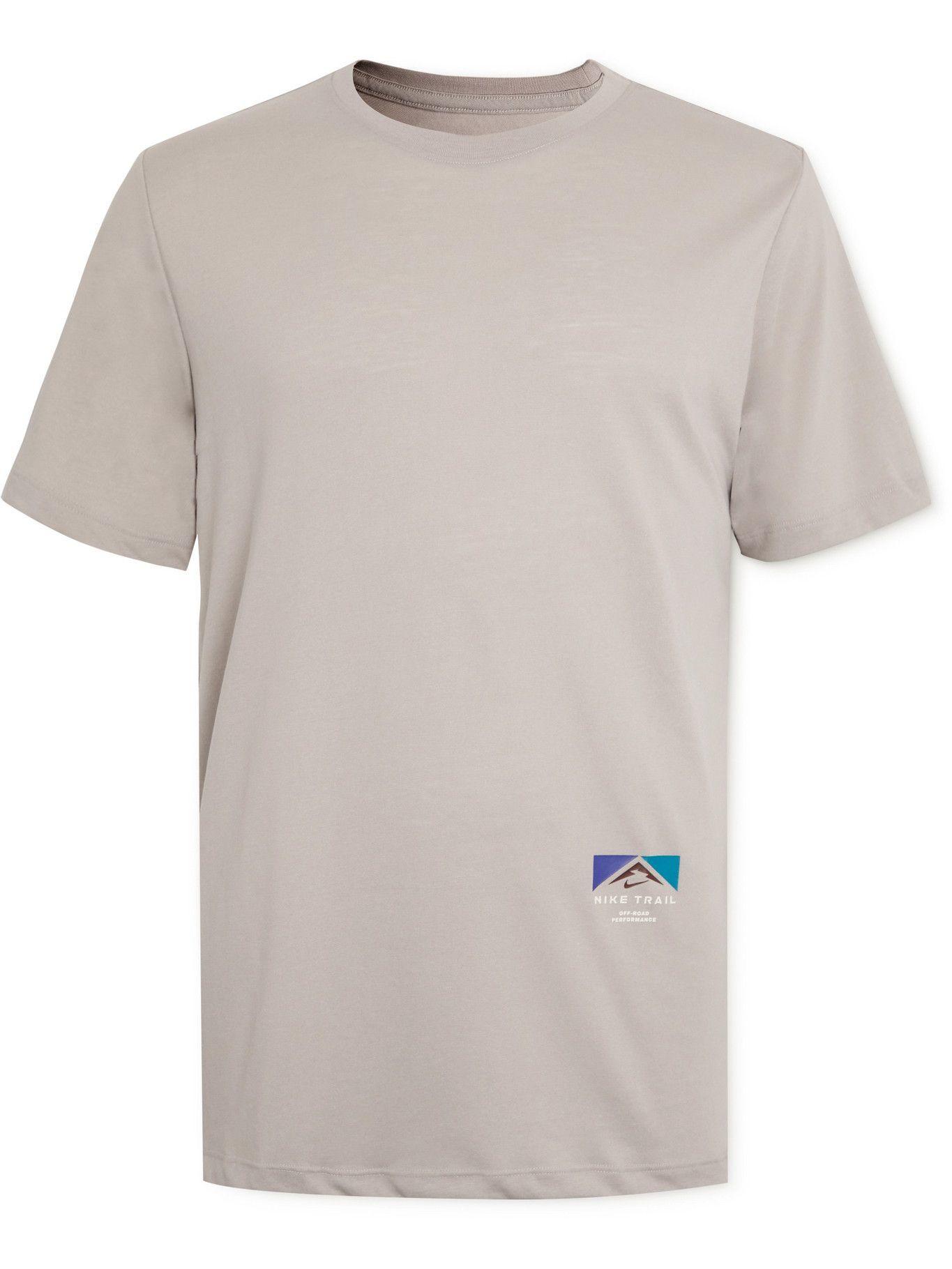 Photo: Nike Running - Trail Printed Dri-FIT T-Shirt - Gray