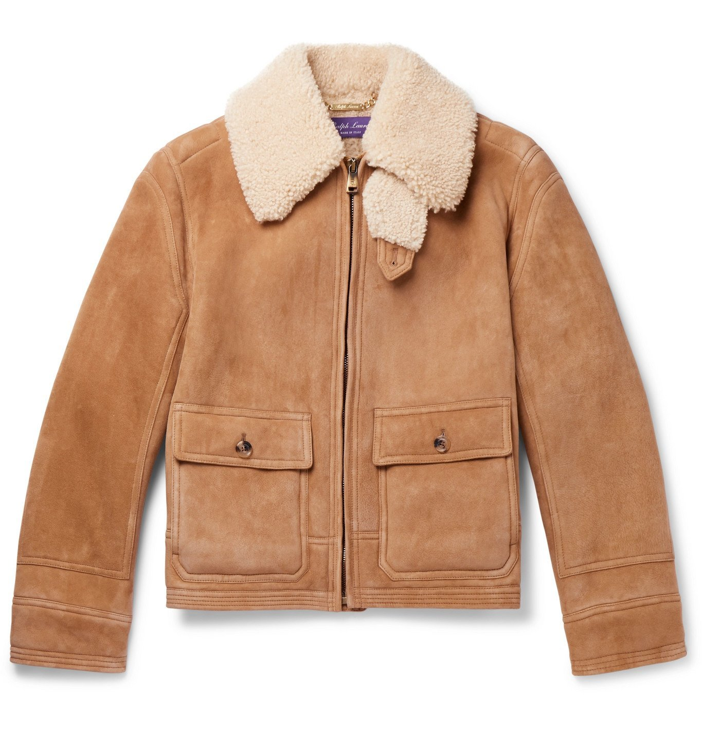Photo: Ralph Lauren Purple Label - Beedon Shearling Jacket - Neutrals