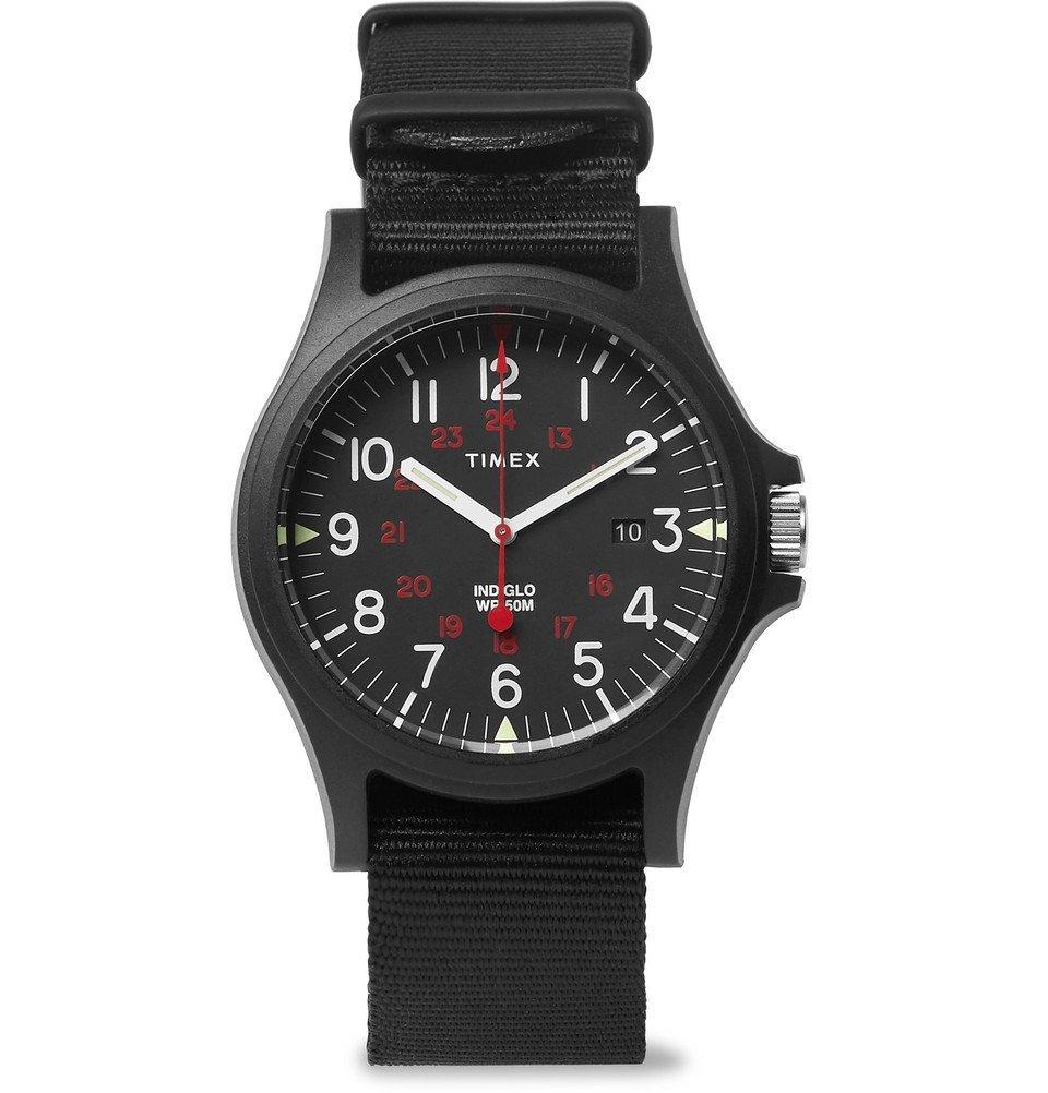 Photo: Timex - Acadia Resin and Grosgrain Watch - Men - Black