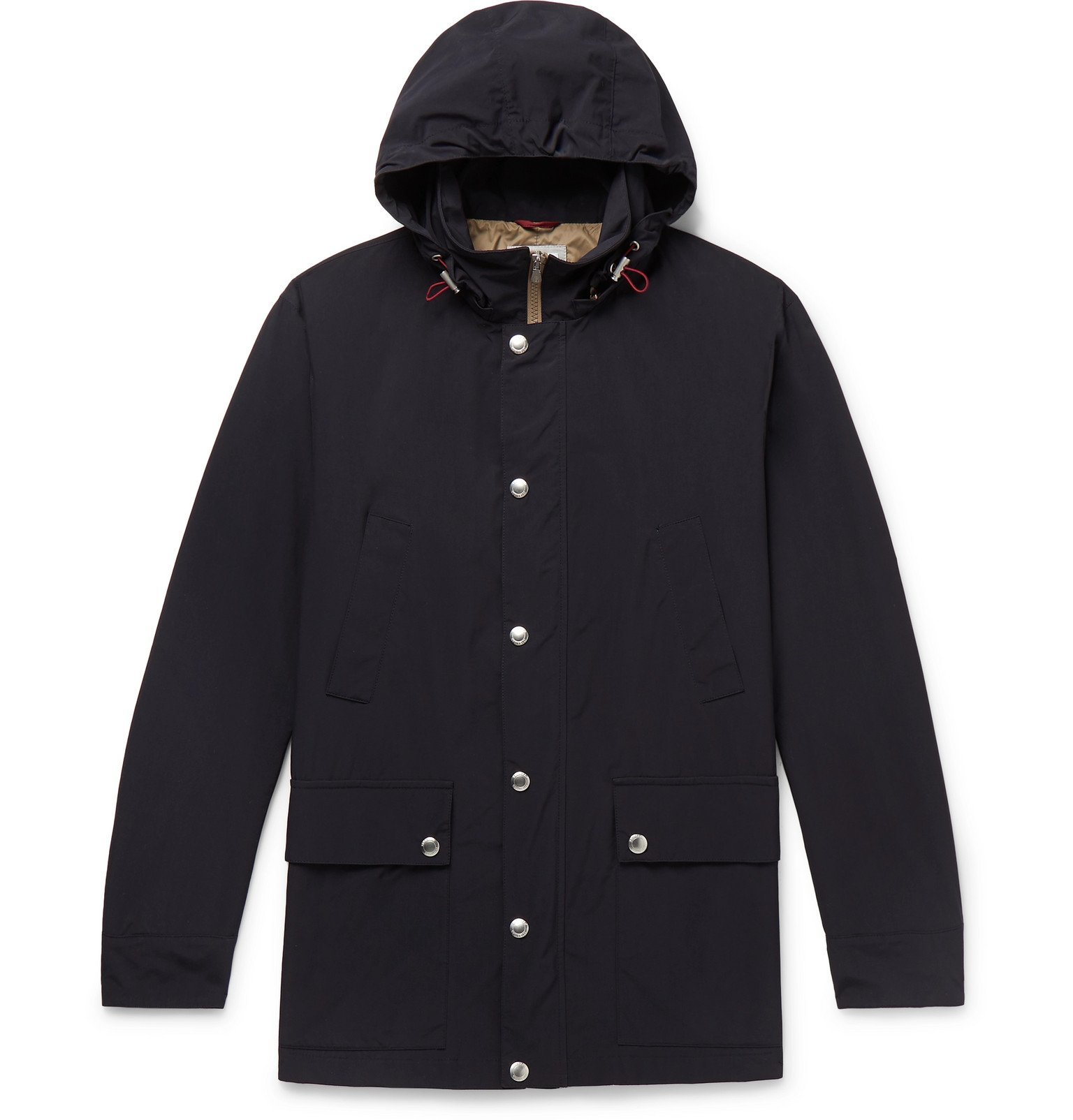 Photo: Brunello Cucinelli - Shell Hooded Parka - Blue
