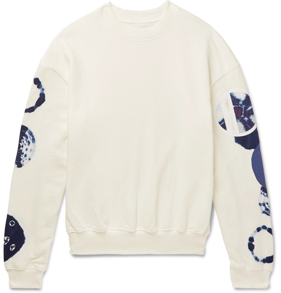 KAPITAL - Oversized Nylon-Trimmed Loopback Cotton-Jersey Sweatshirt - Men - White