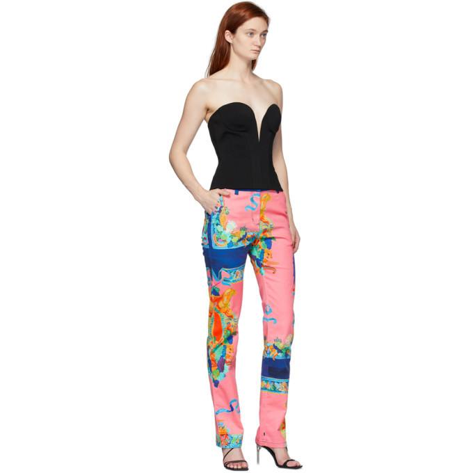 Versace Multicolor Caravaggio Print Jeans