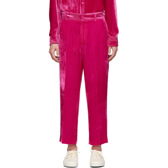 Photo: Sies Marjan Pink Corduroy Alex Fluid Trousers