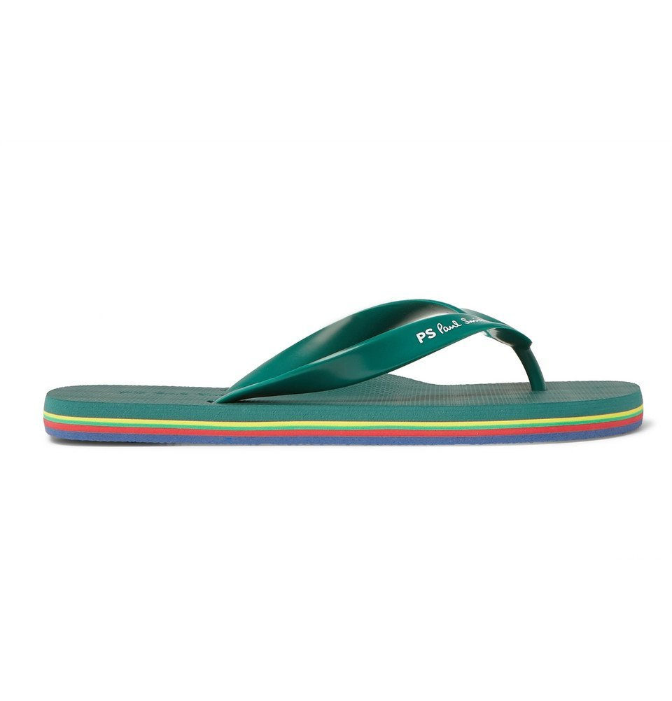 Photo: Paul Smith - Rubber Flip Flops - Green