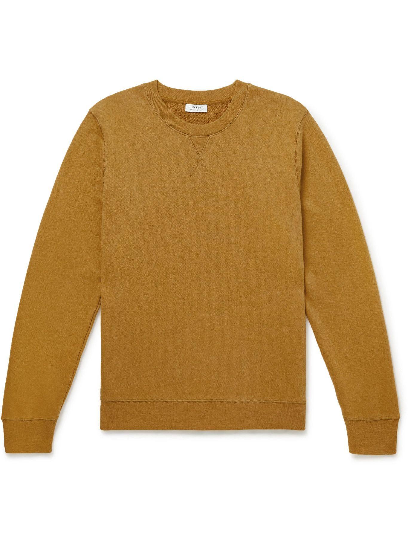 Photo: SUNSPEL - Cotton-Jersey Sweatshirt - Yellow