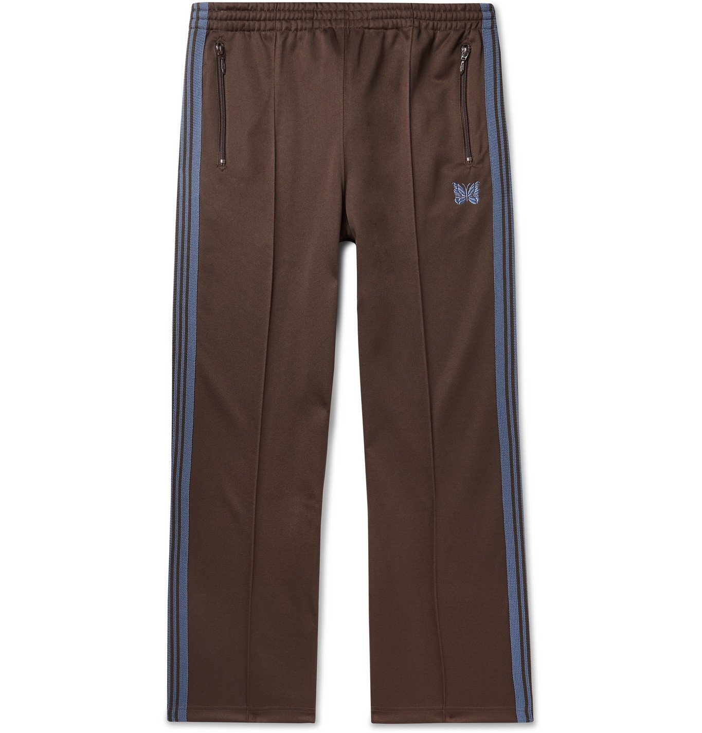 Photo: Needles - Logo-Embroidered Webbing-Trimmed Tech-Jersey Track Pants - Brown