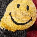 KAPITAL - Smiley Striped Cotton and Hemp-Blend Socks - Charcoal