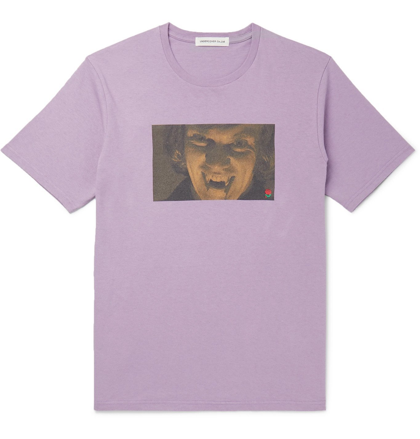 Photo: Undercover - Printed Cotton-Jersey T-Shirt - Purple