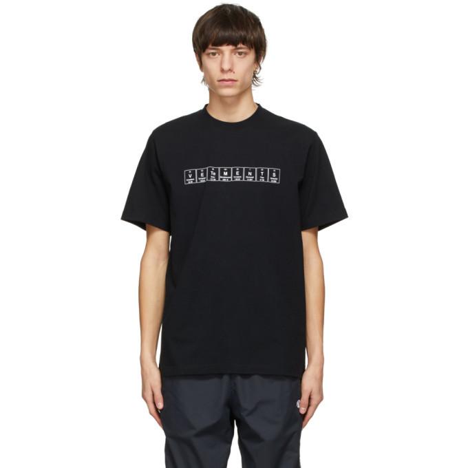 Photo: VETEMENTS Black Chemical Logo T-Shirt