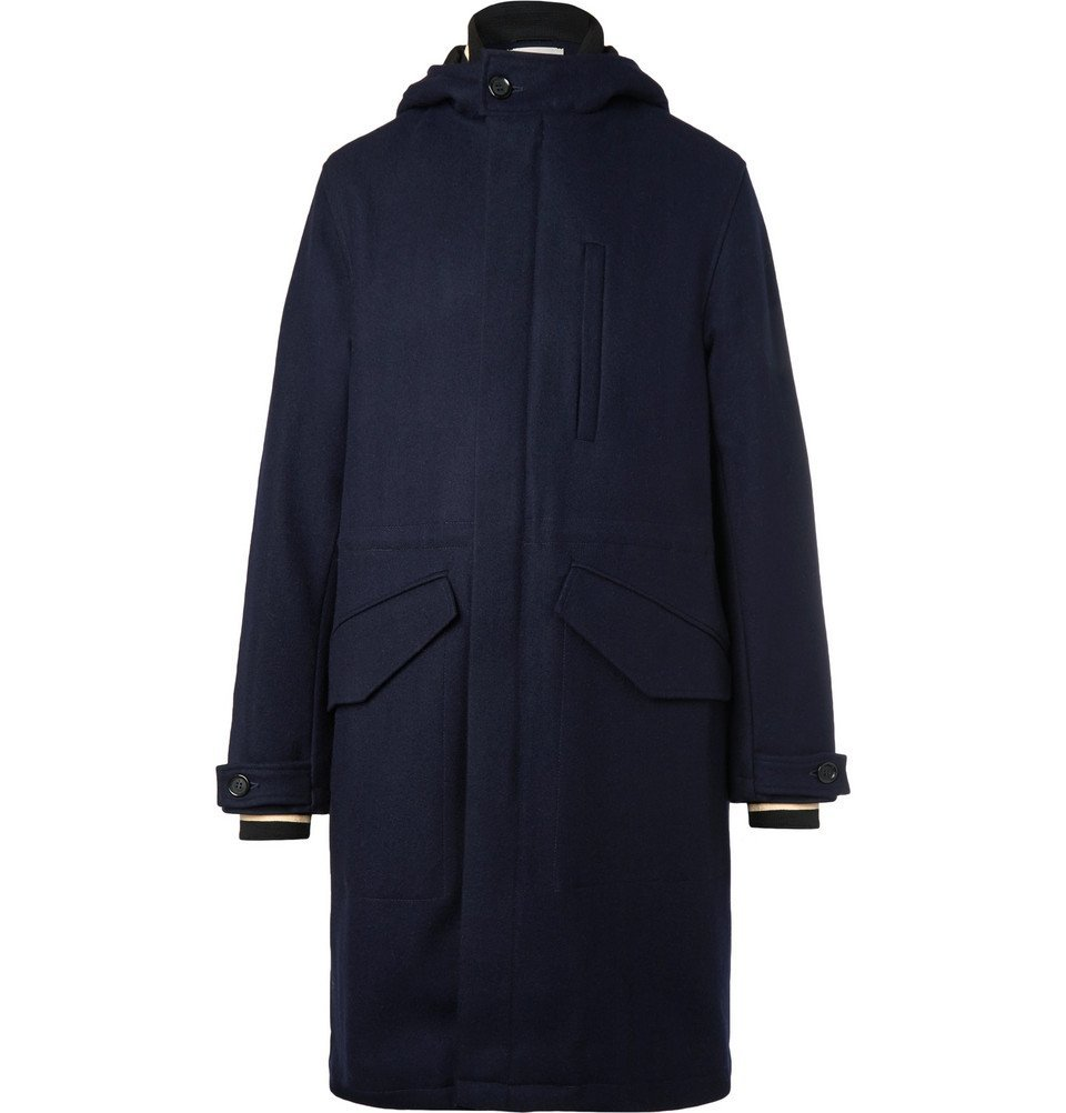 Photo: Oliver Spencer - Priory Hooded Wool Parka - Navy