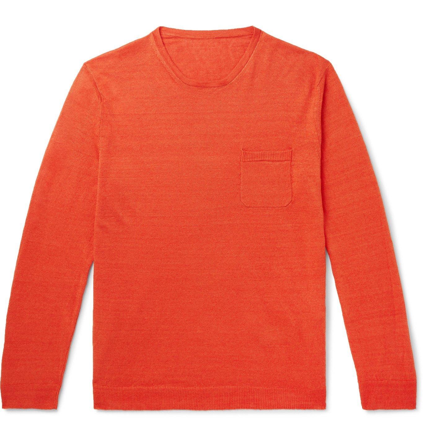 Photo: Anderson & Sheppard - Linen Sweater - Orange