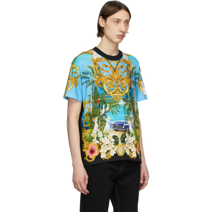 Versace Jeans Couture Multicolor Barocco Jungle T-Shirt