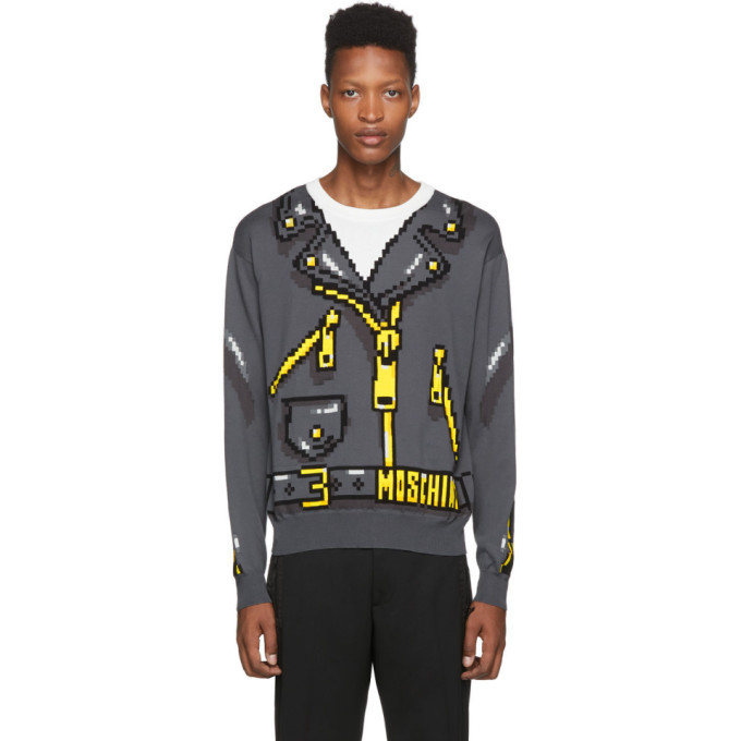 Photo: Moschino Grey The Sims Edition Pixel Sweater