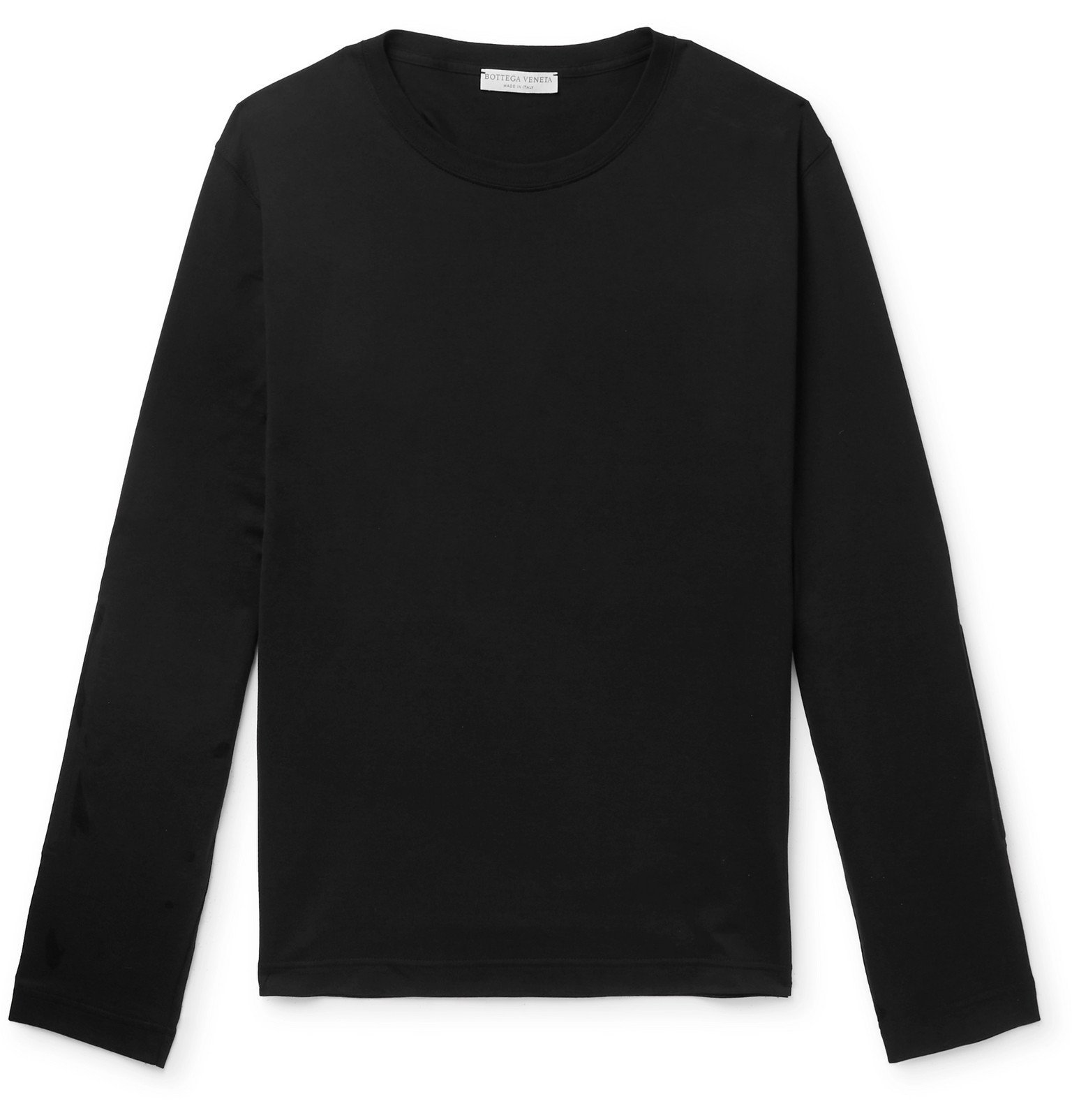 Photo: Bottega Veneta - Panelled Cotton-Jersey T-Shirt - Black