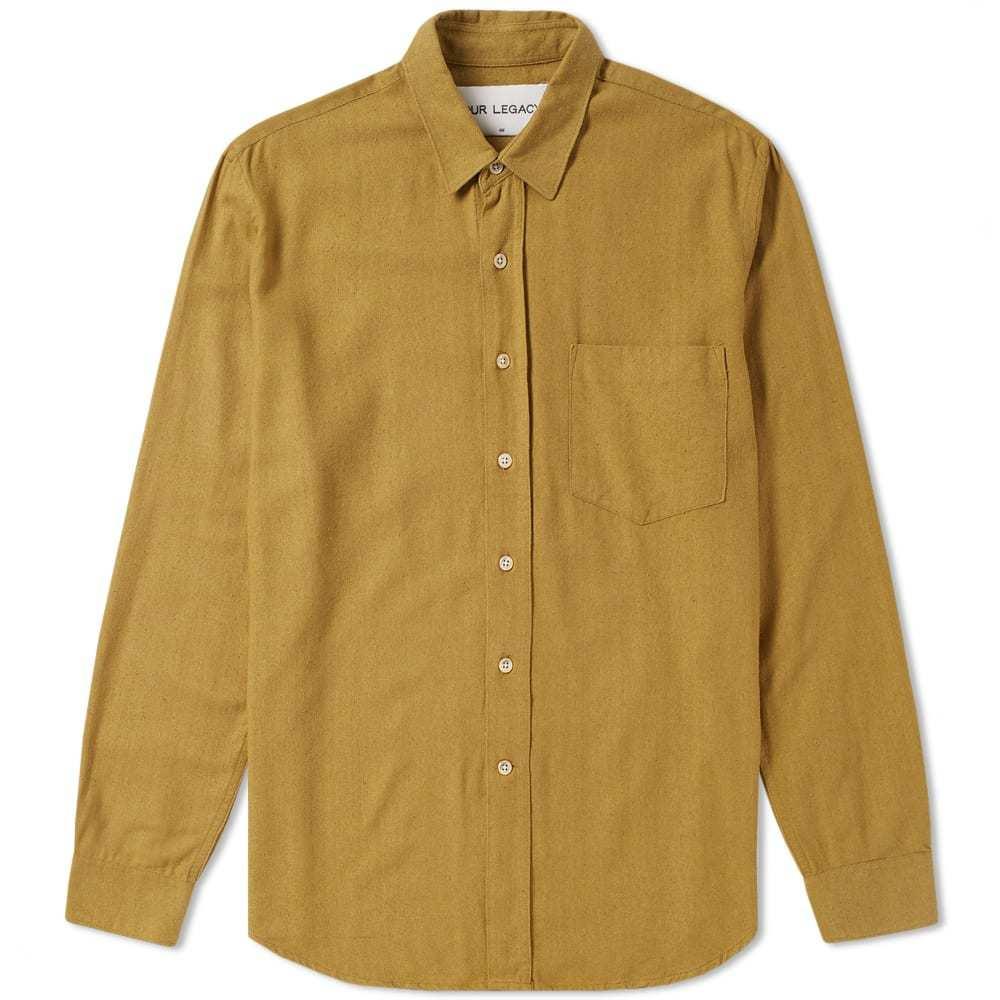 Photo: Our Legacy SPLASH Classic Silk Shirt Brown