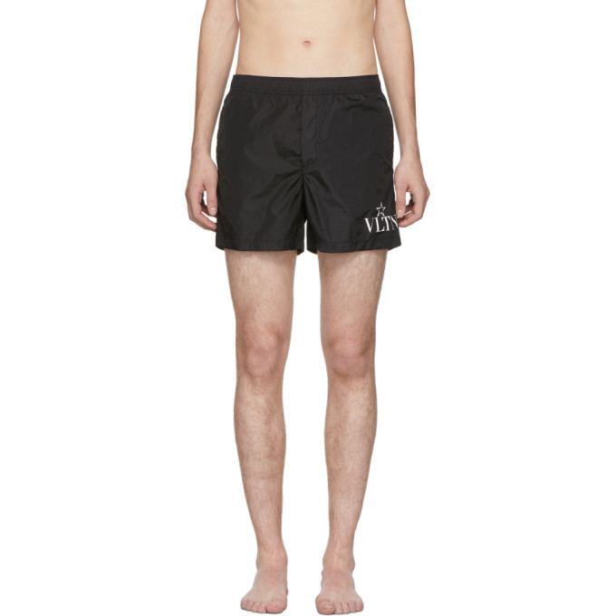 Photo: Valentino Black VLTN Star Swim Shorts