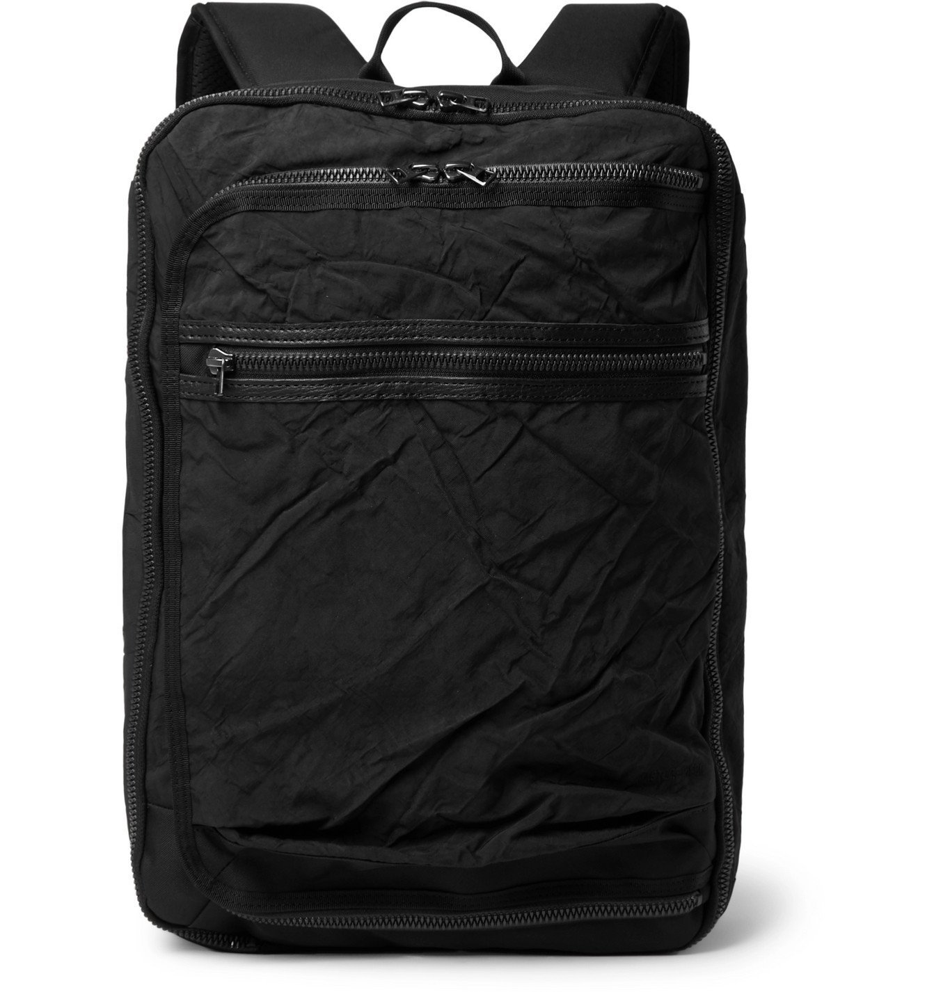 Photo: Master-Piece - Rebirth Project Leather-Trimmed Nylon and Canvas Backpack - Black
