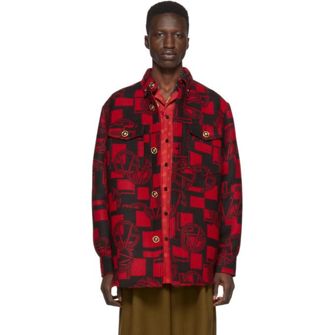 Photo: Versace Red GV Shirt Jacket