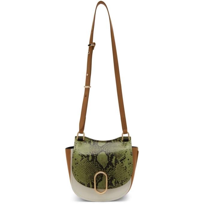3.1 Phillip Lim Green Python Alix Hunter Bag