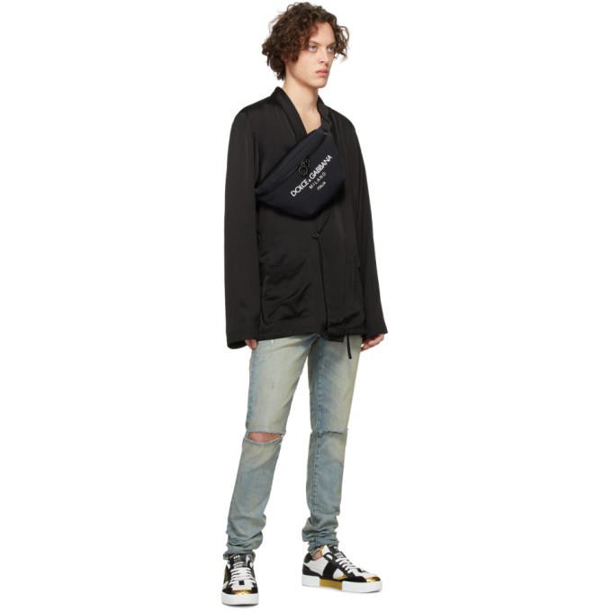 Dolce and Gabbana Black Logo Fanny Pouch