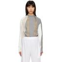 GmbH White and Grey Long Sleeve Europa T-Shirt
