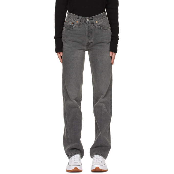Photo: Re/Done Grey 90s High Rise Loose Jeans