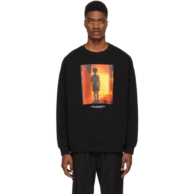 Photo: Marcelo Burlon County of Milan Black Close Encounters Of The Third Kind Edition Child Over Sweatshirt