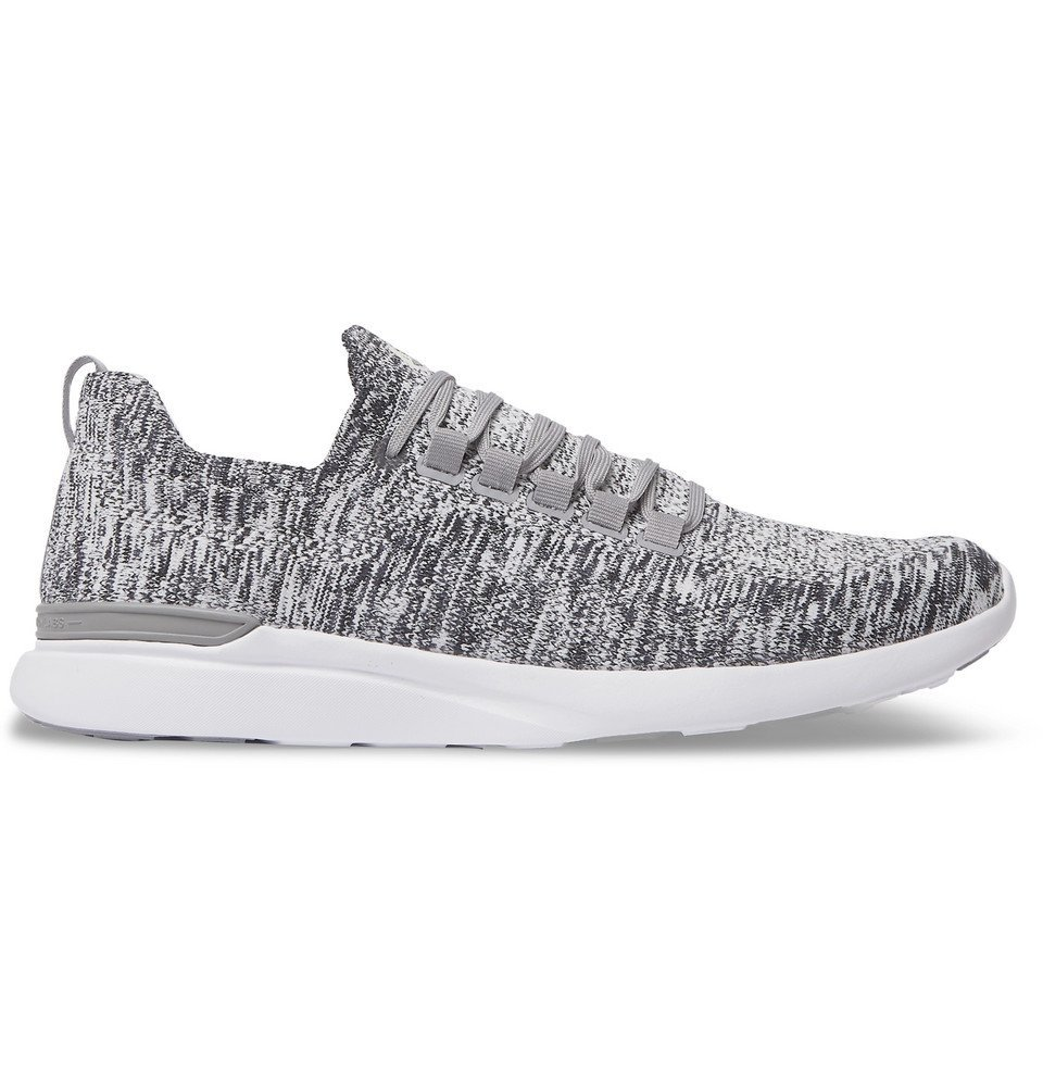 Photo: APL Athletic Propulsion Labs - TechLoom Breeze Running Sneakers - Light gray