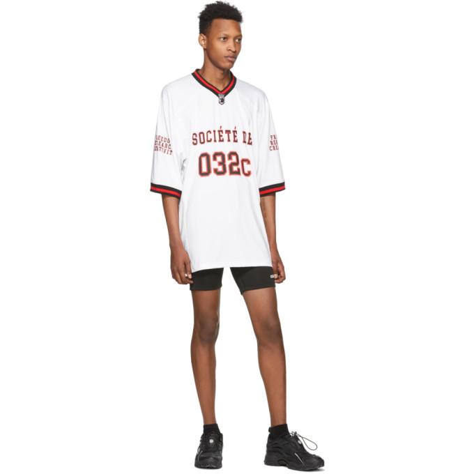 032c Black Tight Logo Shorts