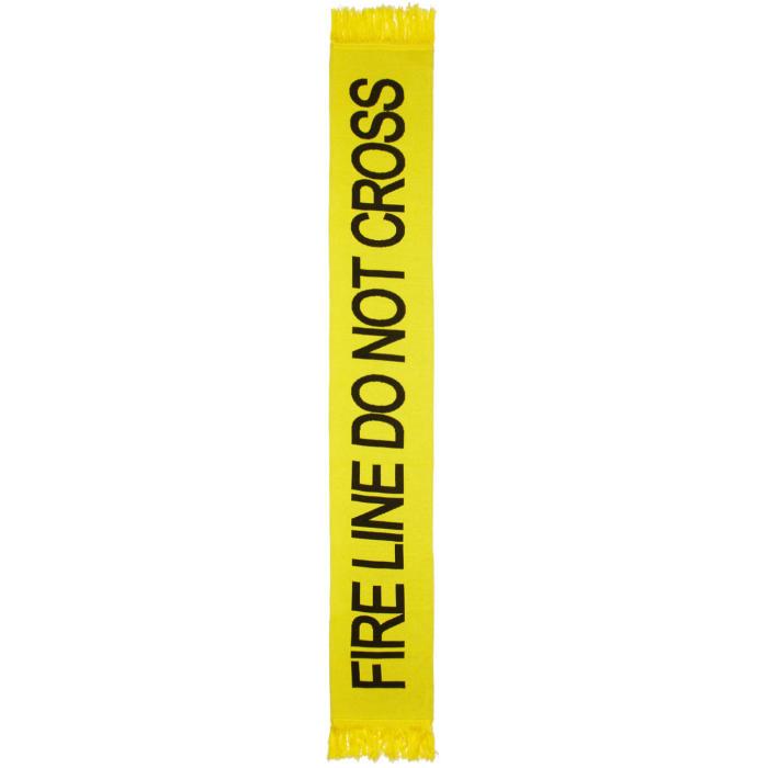 Photo: Off-White Yellow Firetape Scarf