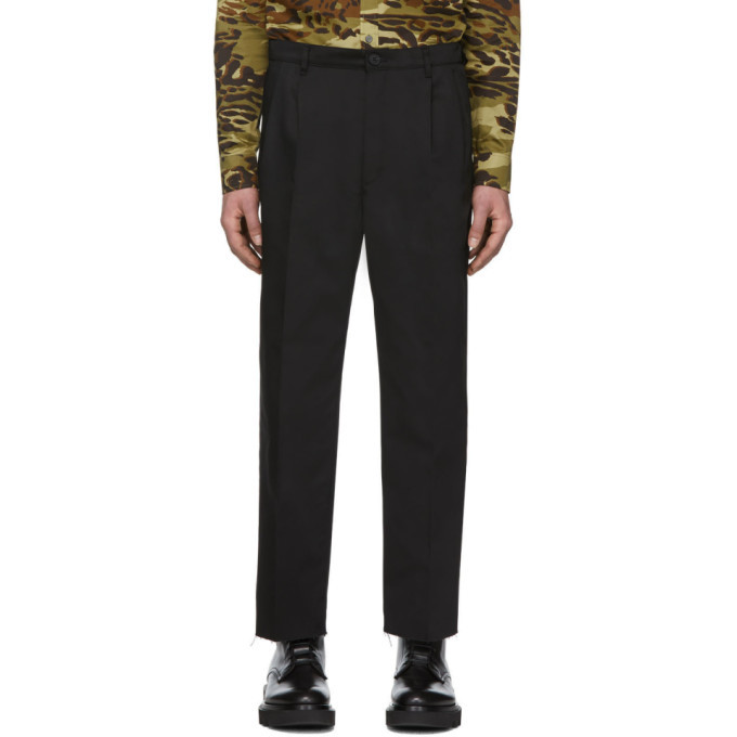Photo: Givenchy Black Bootcut Chino Trousers