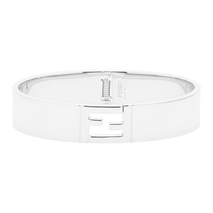 Photo: Fendi Silver Forever Fendi Open Clasp Bracelet