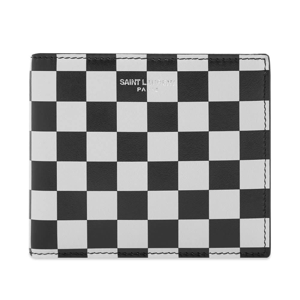 Photo: Saint Laurent Checkerboard Leather East West Wallet