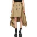 Sacai Beige Gabardine Trench Skirt