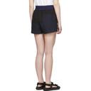 Sacai Black and Navy Panelled Shorts