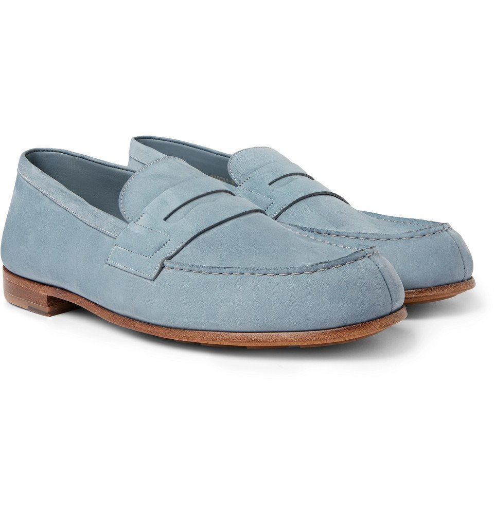 Photo: J.M. Weston - 281 Le Moc Suede Loafers - Light blue