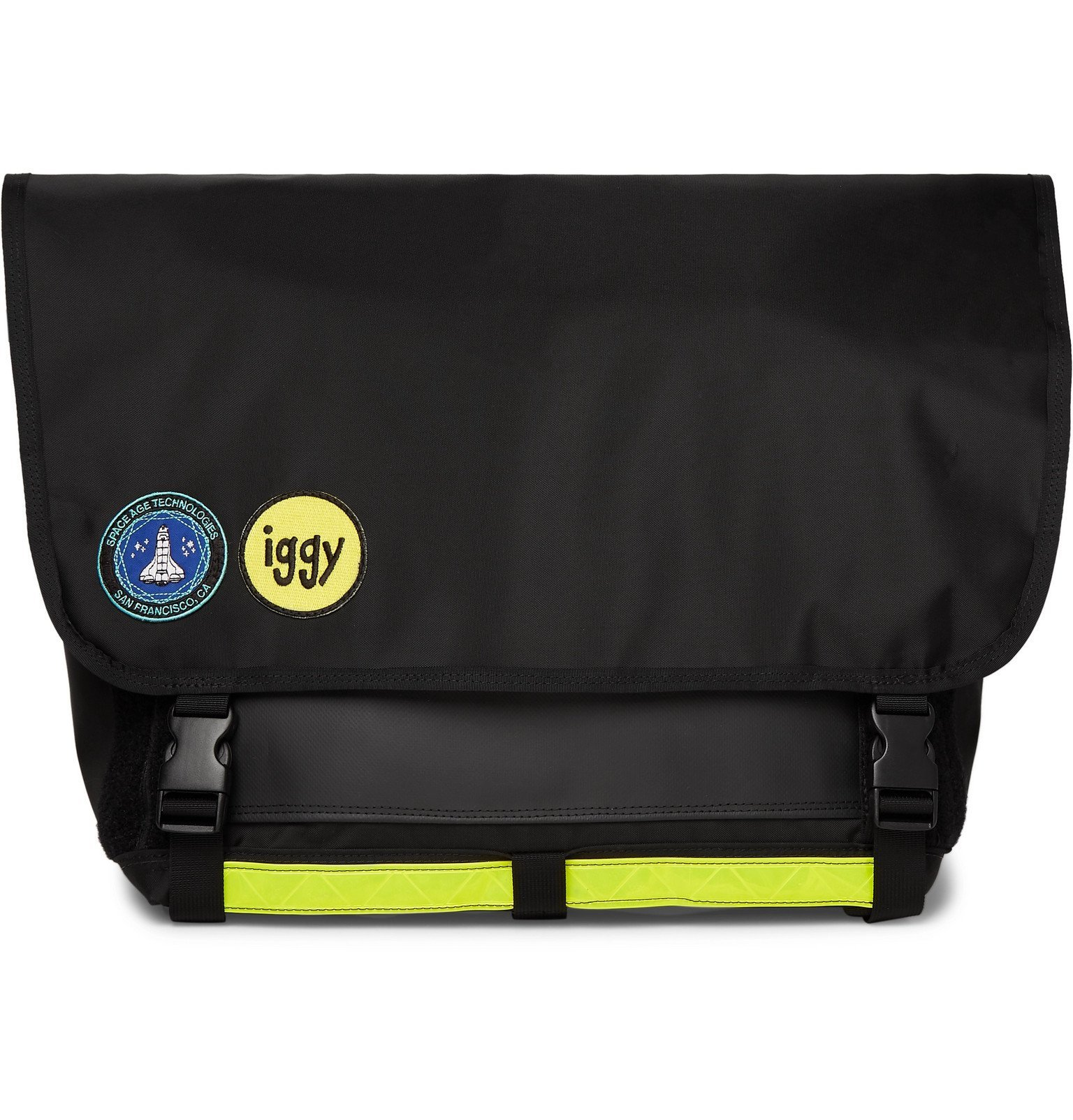 Photo: iggy - Logo-Appliquéd Canvas Messenger Bag - Black