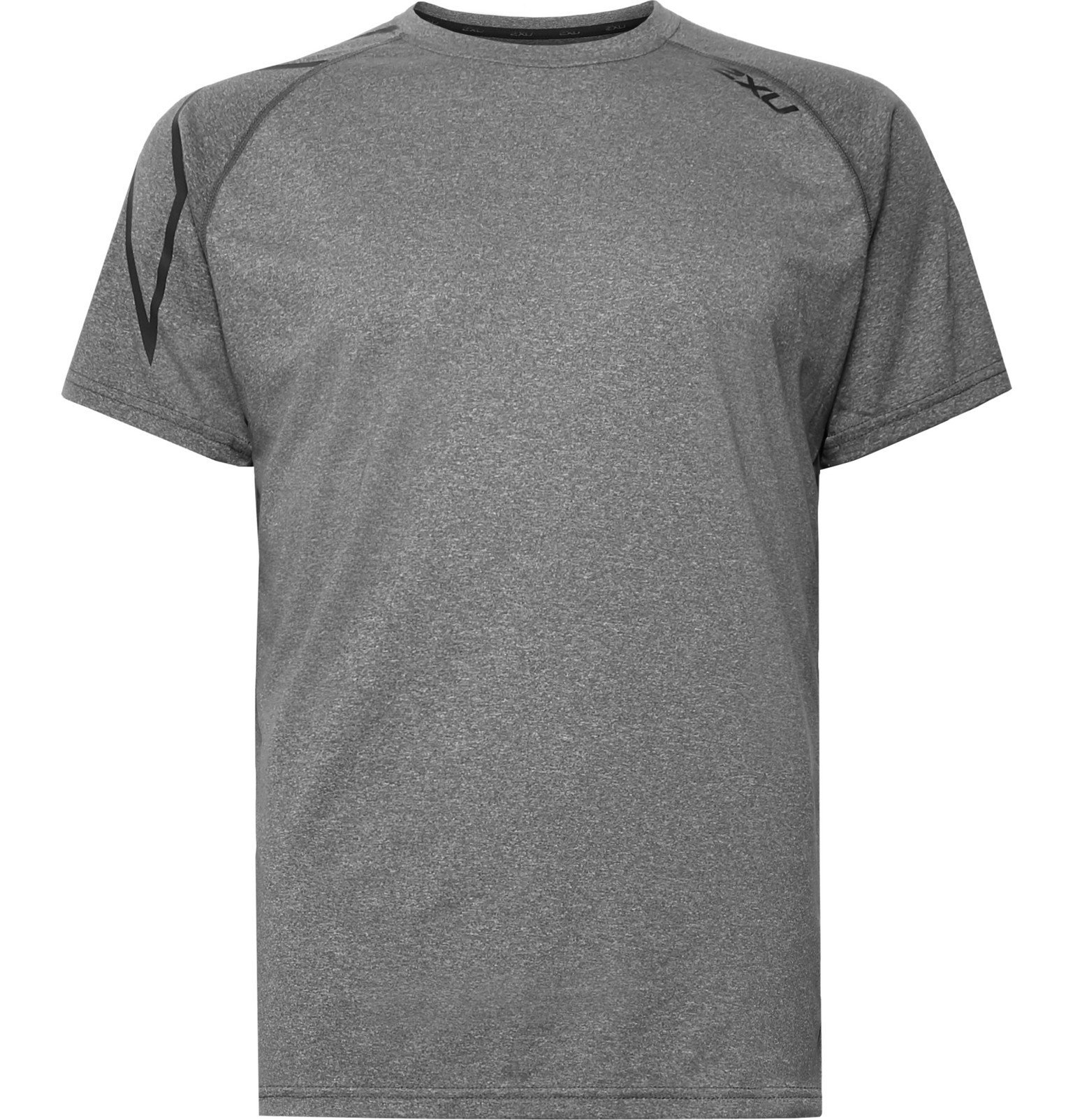 Photo: 2XU - XCTRL Mélange Stretch-Jersey T-Shirt - Gray