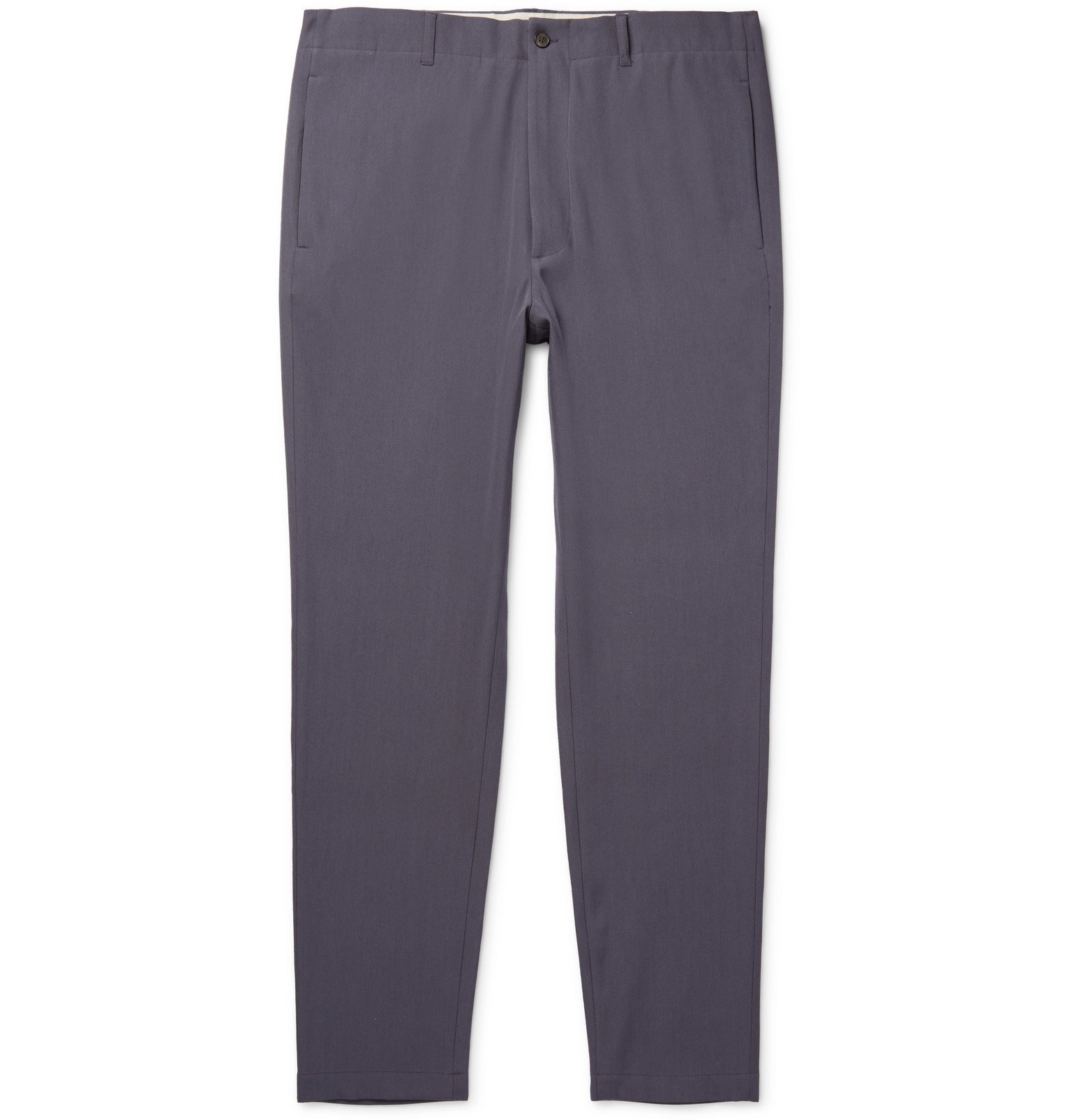 Photo: Rochas - Virgin Wool and Cotton-Blend Gabardine Trousers - Gray