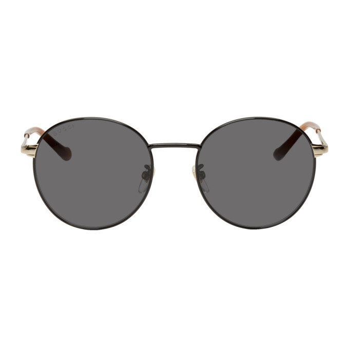 Photo: Gucci Black Round Sunglasses