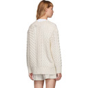 3.1 Phillip Lim White Wool Cable Knit Cardigan