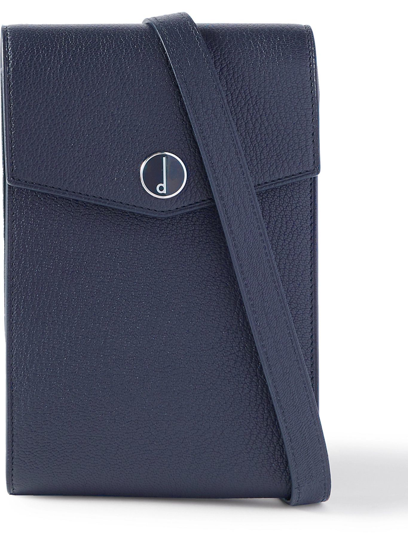 DUNHILL - Logo-Detailed Full-Grain Leather Pouch