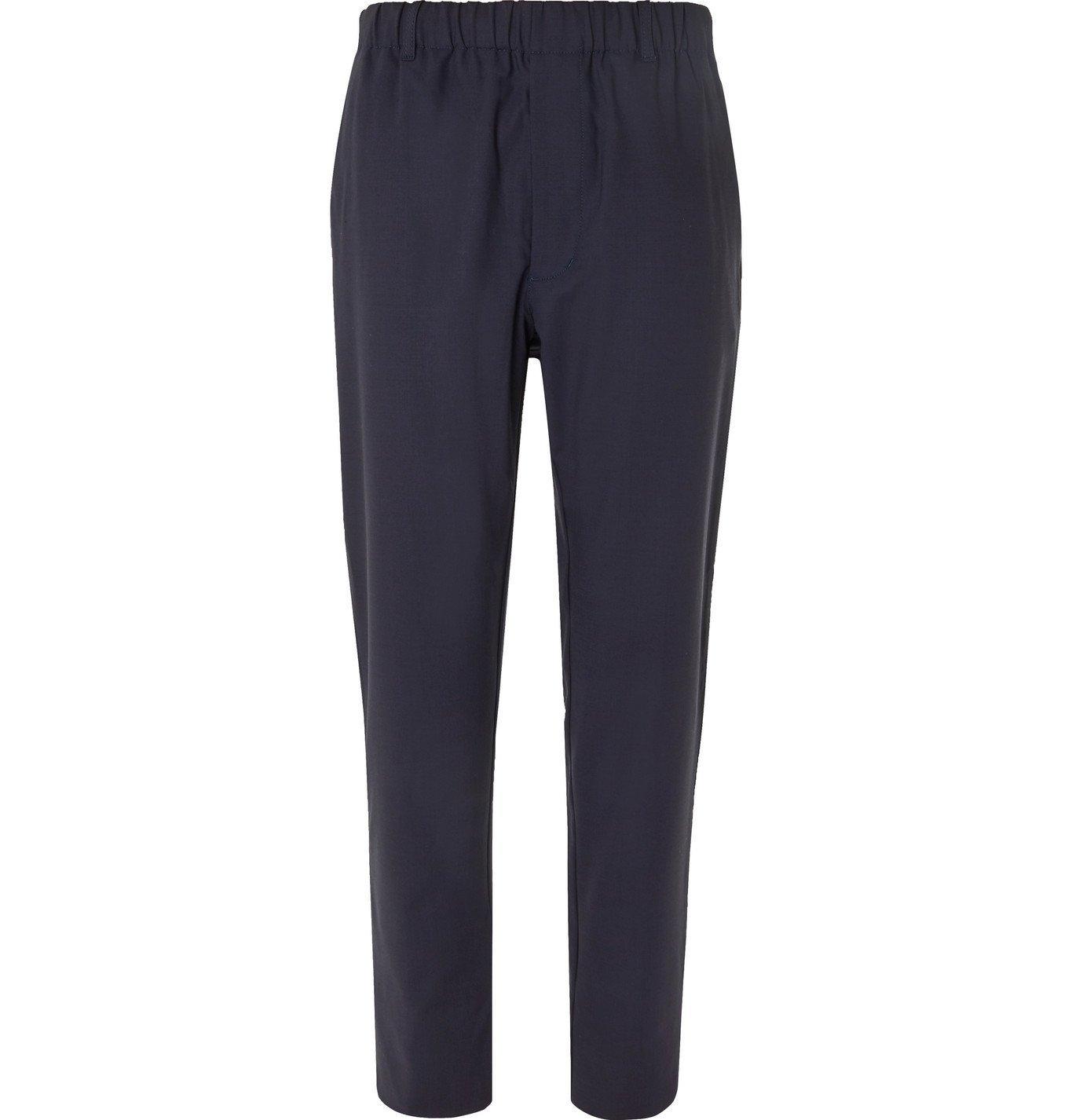 Photo: Aspesi - Stretch Tech-Jersey Drawstring Trousers - Blue