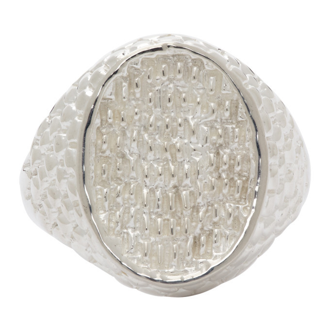 Photo: Hatton Labs Silver Oval Keepers Ring